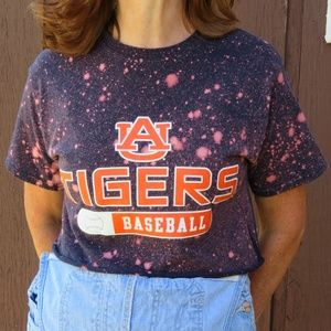 Champion Auburn Tigers Baseball Bleach Crop Top S